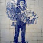 Vendedor de cestas e condeças em Lisboa