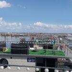 Vista do terraço do barco