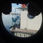 Vista do quarto do barco