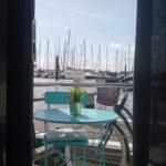 Vista para a varandinha do barco